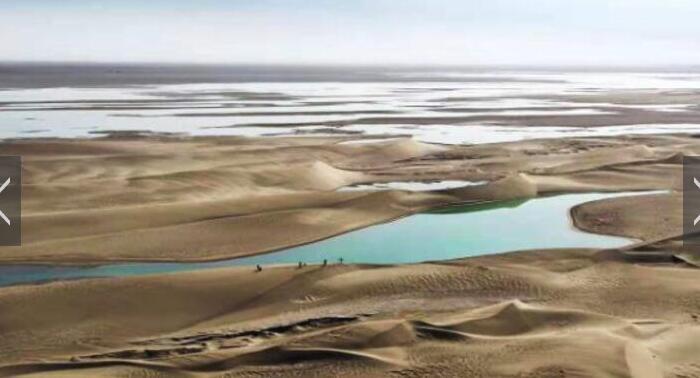 敦煌沙漠一湖泊干涸近三百年现水源