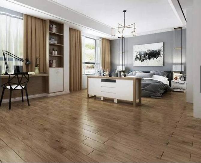 地板有甲醛、瓷砖工费高,别纠结了,怕后悔选木纹砖!
